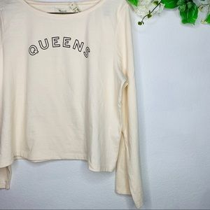 Madewell Tops - Madewell QUEENS Long Sleeve Graphic Tee Shirt